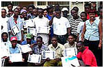 Porters getting English certificate